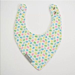 Handmade Cotton Flannel Snap Button Baby Bandana